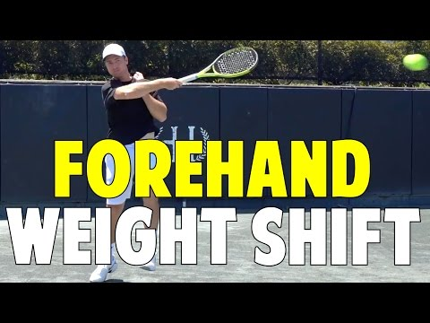 Weight Shift For Tennis Forehand