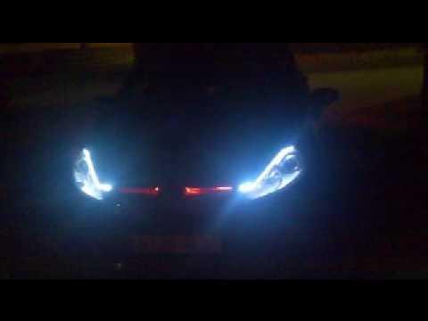 Ford fiesta nuevo mk7 2008 titanium luces diurnas y coche - Luces de neon ...