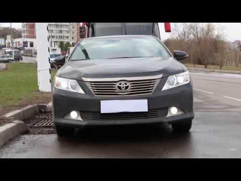 ДХО, Дальний в полнакала Тойтоа Камри V50 DRL, High beam dimly. Toyota Camry, V50
