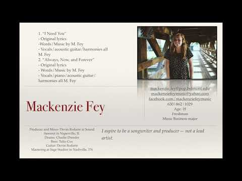 Mackenzie Fey - Sony/ATV Music Publishing Submission
