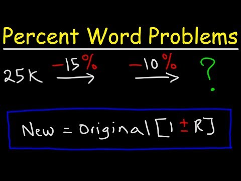 Percent Word Problems - Sales Tax, Discount, & Finding The Original Price
