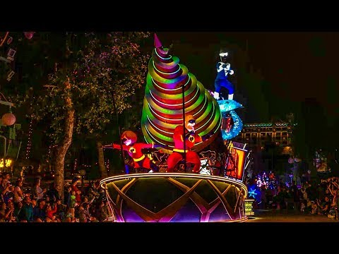 Paint the Night Parade Full Show with New Incredibles Float HD
