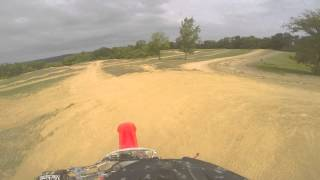 Our first ride on the mx track at Haspin Acres