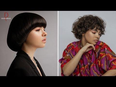 SASSOON DEMETRIUS | Стрижка Сессон на короткие волосы | Женская стрижка на кудрявые вьющиеся волосы