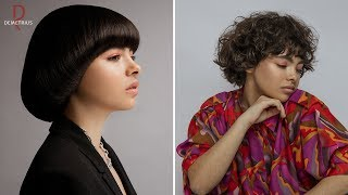 SASSOON DEMETRIUS Стрижка Сессон на короткие волосы Женская стрижка на кудрявые вьющиеся волосы
