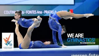 2018 Acrobatic Worlds, Antwerp (BEL) - Highlights WOMEN'S GROUPS FINAL - We Are Gymnastics !