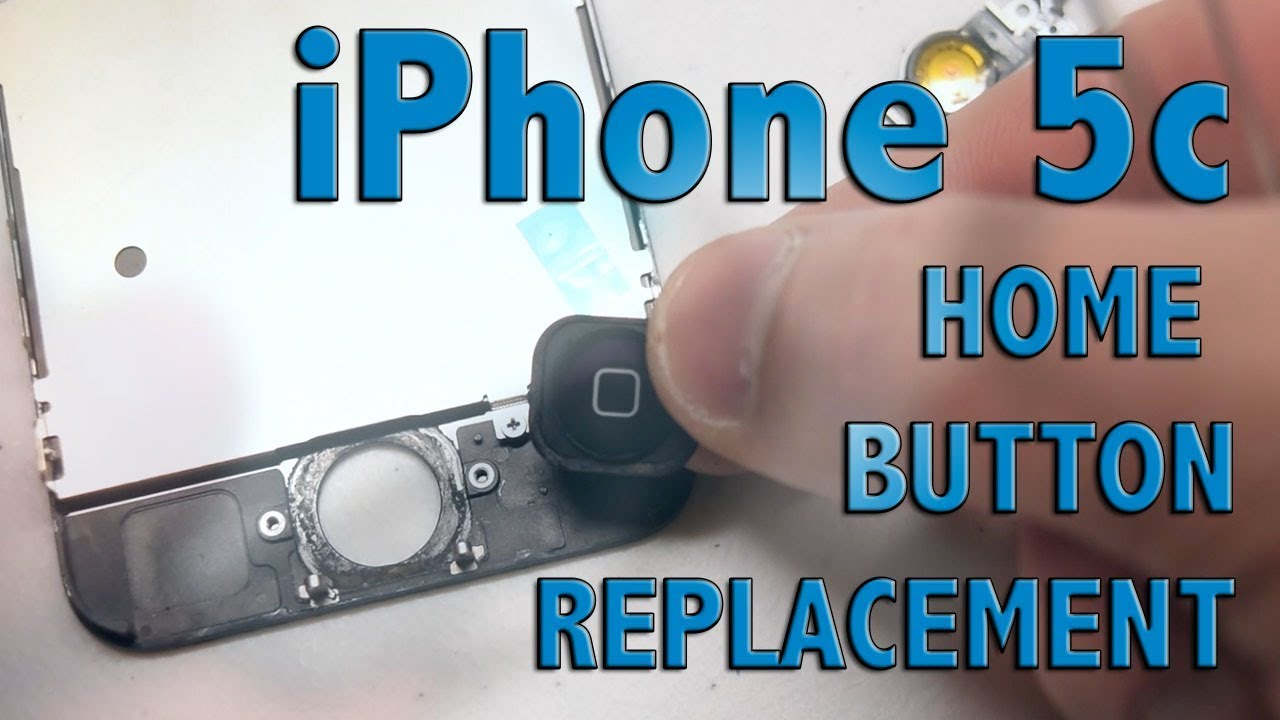 iPhone 5c home button replacement - YouTube