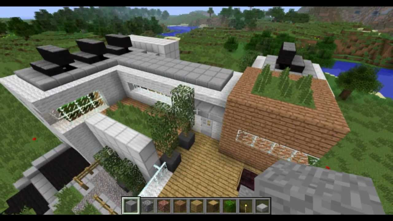 Minecraft Modern Eco House Youtube