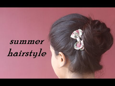 easy-summer-bun-for-school-collegeworkoffice|-running-late-hairstyle|beautybook
