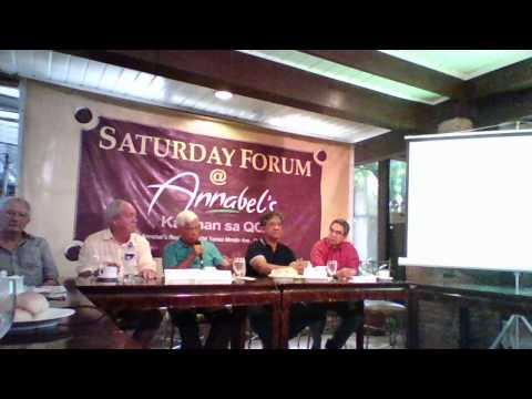 SATURDAY FORUM AT ANNABEL'S RESTAURANT, MARCH 7, 2015 (partial video)