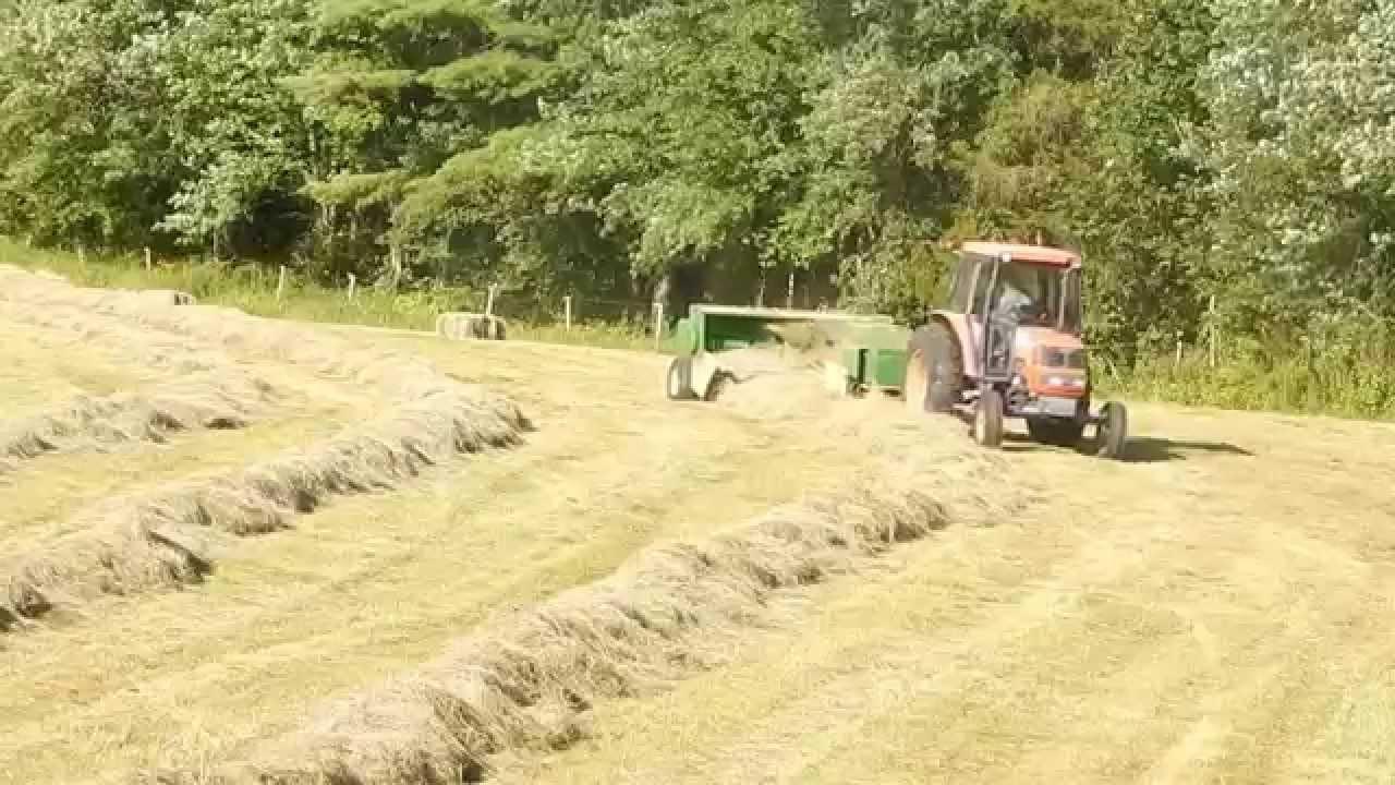 Baling Hay With Kubota : Raking and baling hay ford kubota m john deere