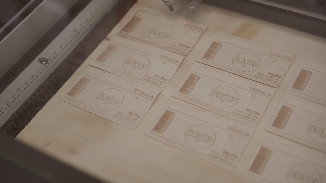 Laser etching wood business cards youtube laser etching wood business cards colourmoves