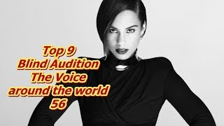 Top 9 Blind Audition (The Voice around the world 56)(REUPLOAD)