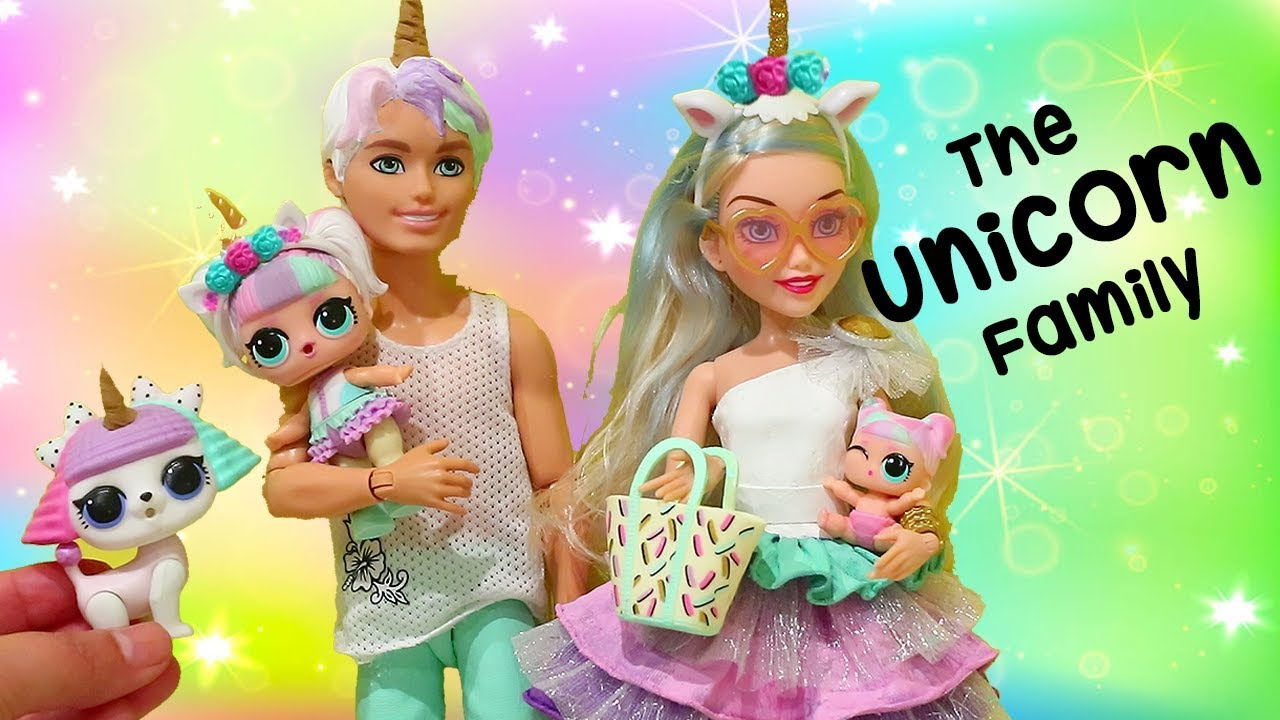 Lol Families The Unicorn Family Pet Prank Toys And