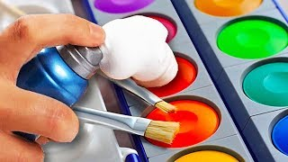 10 Awesome Paint Hacks For Everyone | Easy Paint Crafts |  Craft Factory