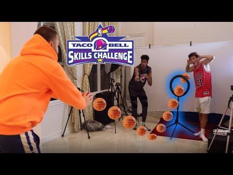 MINI HOOP BBALL SKILLS CHALLENGE!!!