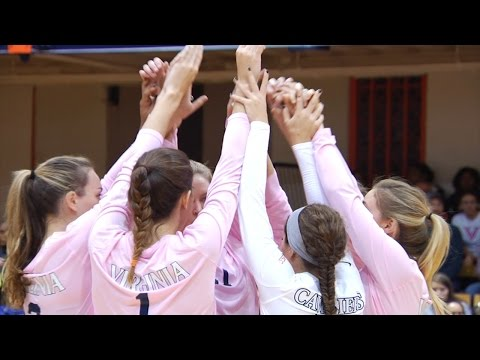 UVA VOLLEYBALL: Virginia vs. Virginia Tech Highlights