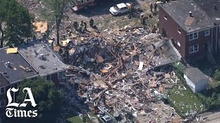 Gas explosion levels 3 Baltimore homes; 1 dead, others trapped