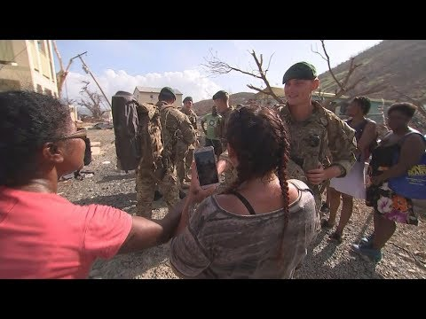Islanders stranded after Irma rescued by Royal Marines