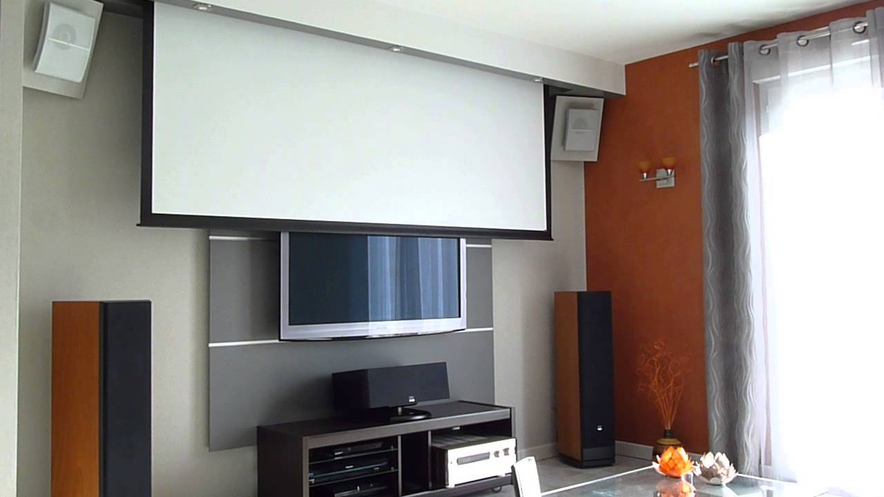 ecran lumene embassy ii 240c int gr dans coffrage youtube. Black Bedroom Furniture Sets. Home Design Ideas