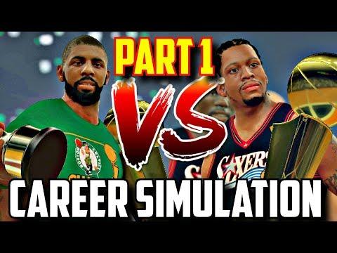 SIMULATING KYRIE IRVING & ALLEN IVERSON'S NBA CAREERS IN NBA2K17!! PART 1!! #CareerSimVS