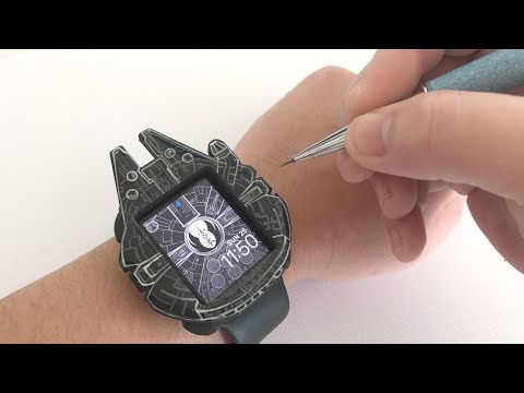 DIY Painting Star Wars Apple Watch Cover, Millennium Falcon, Watch Me Paint