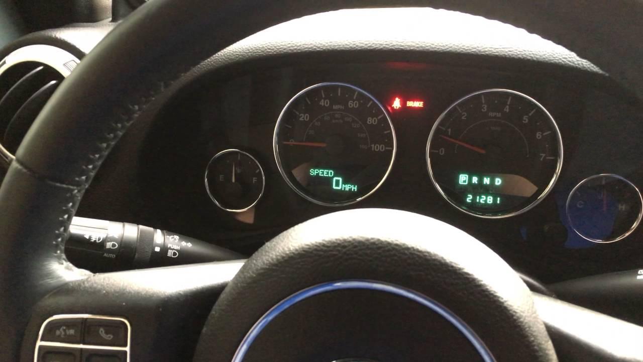2014 Jeep Wrangler JKU Digital Speedometer