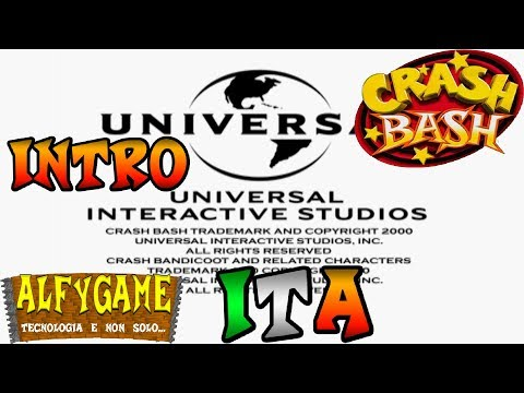 "Crash Bash TITLE SCREEN in italiano ""Sony Computer Entertainment Europe Presents"""