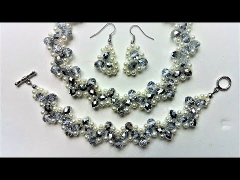 Handmade bridal jewelry set. DIY wedding jewelry inspiration