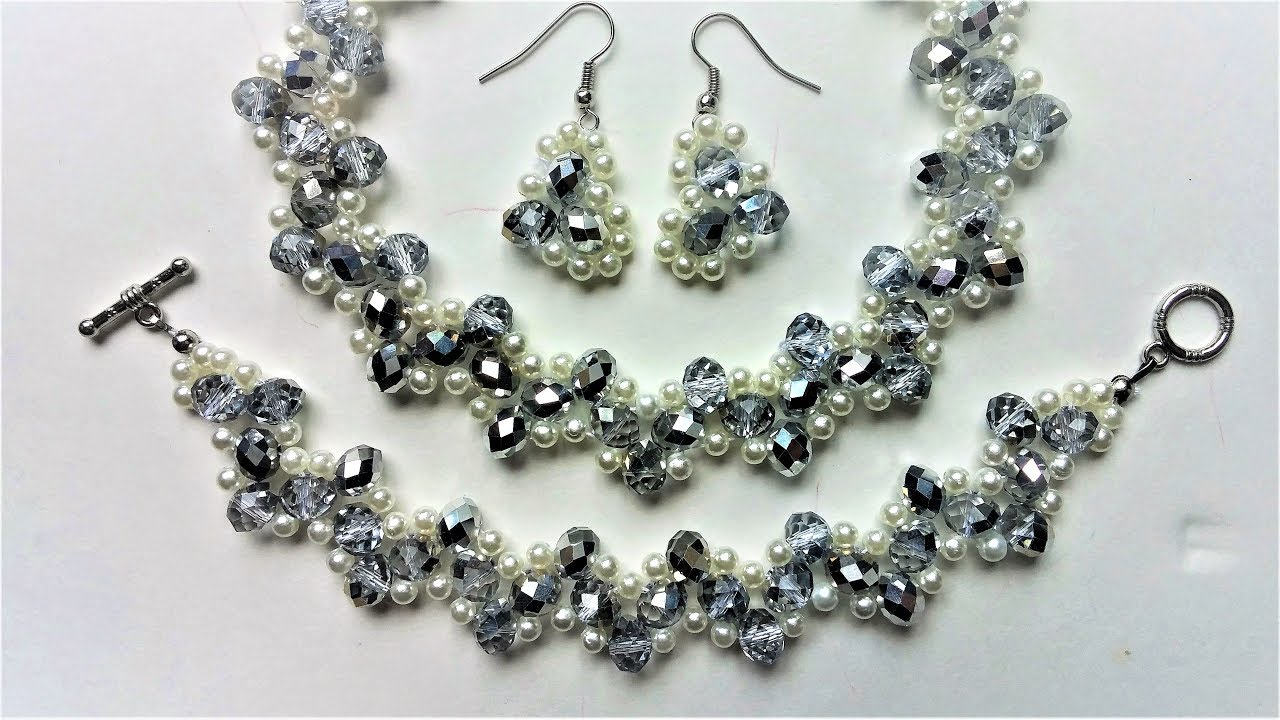 Handmade bridal jewelry set DIY wedding jewelry inspiration YouTube