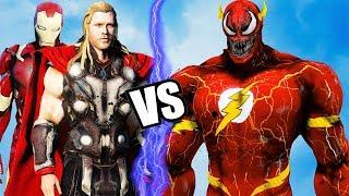 THE AVENGERS VS FLASH-VENOM - Iron Man, Thor vs Flash-Venom