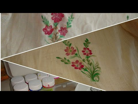 Free Hand Fabric Painting Fabric Painting