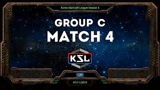 [KSL 4] Round of 16   Group C   Winners Match   SnOw (P) vs. SOMA (Z)