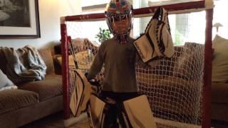Hockey Goalie Glove Saves by The Wood boys