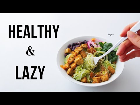 Low Effort Vegan Meal Ideas! (healthy + easy)