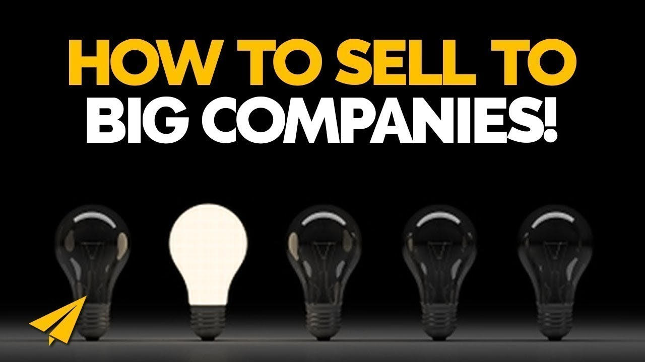 Sales techniques how to sell ideas to big companies for Ideas for products to make and sell