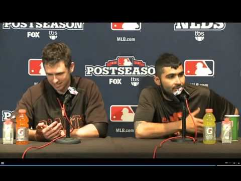 Buster Posey and Sergio Romo funny interview