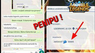 CIRI - CIRI PENIPU JUAL DIAMONDS MOBILE LEGENDS MURAH
