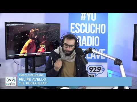 Felipe Avello y conversa con Nicolás Copano