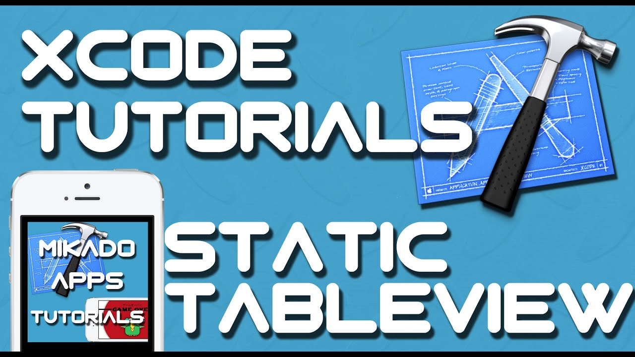 Xcode 6 tutorial how to create a tableview with static for Xcode 6 tableview