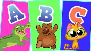 Animal Alphabets Song with Animal Names & Animal Sounds