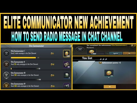 ELITE COMMUNICATOR NEW ACHIEVEMENT EXPLAINED IN PUBG MOBILE    HOW TO SEND RADIO MESSAGE IN CHAT   