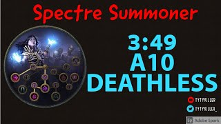 3:49 Spectre Summoner Run   A10 Kitava, Merc Lab, All skill points done