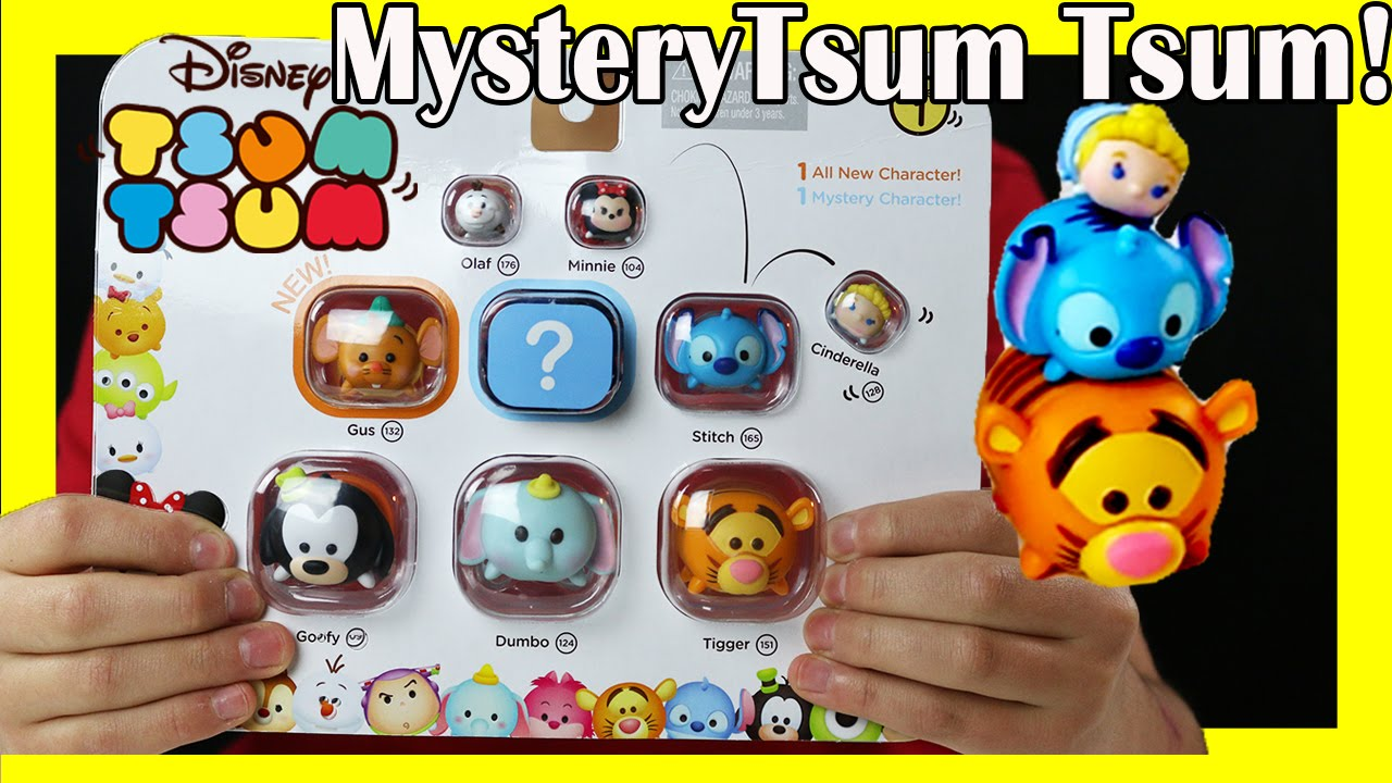 Squishy Toys Pack : TsumTsum Mini Figure Pack Review Disney Squishy Toy Shop Toy 4 pack - YouTube