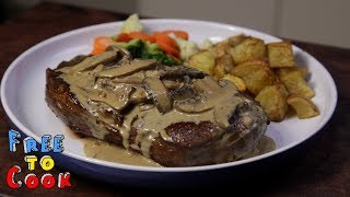 How to cook a Scotch Fillet with Creamy Mushroom Sauce
