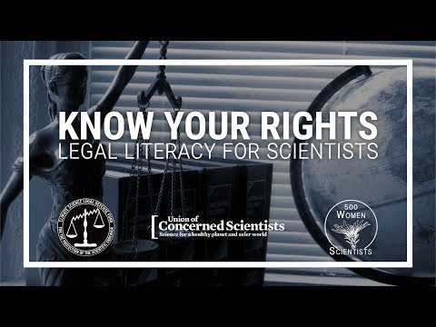 Know Your Rights: Legal Literacy for Scientists
