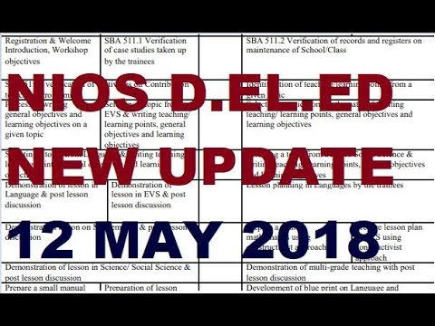 NIOS DELED New update WBA, Exam Centre, SBA discussion | Online Partner