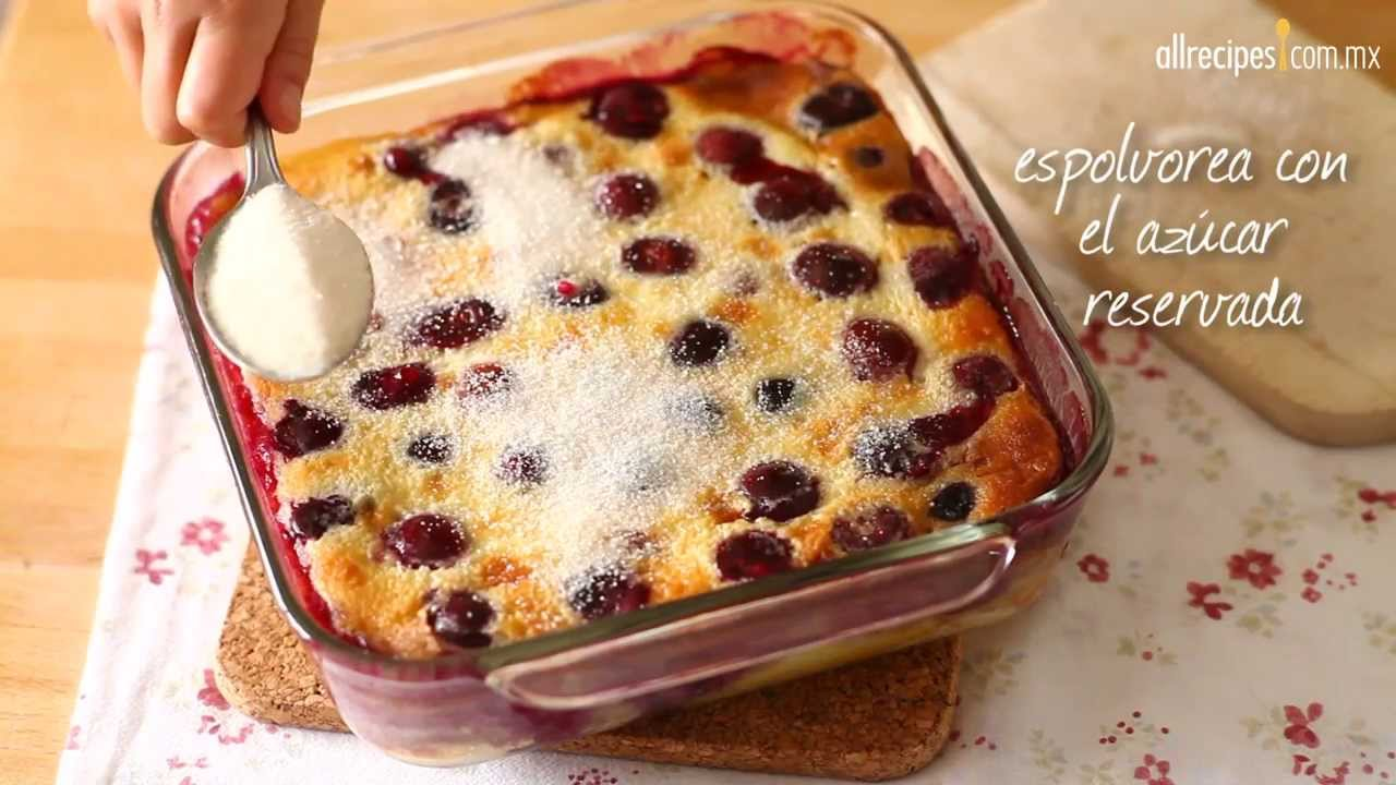 Torta de cerezas francesa