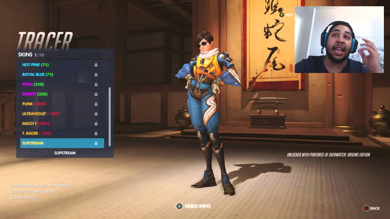 overwatch tracer skins emotes poses voice lines sprays intros