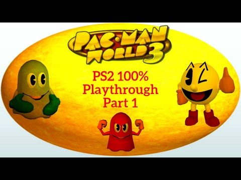 Pac-Man World 3 PS2 100% Playthrough Part 1